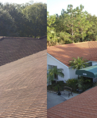 Pressure Tile Roof Cleaning